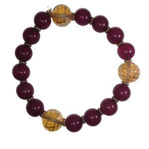 🦋💜Vintage Liz Claiborne Wine & Amber Bracelet